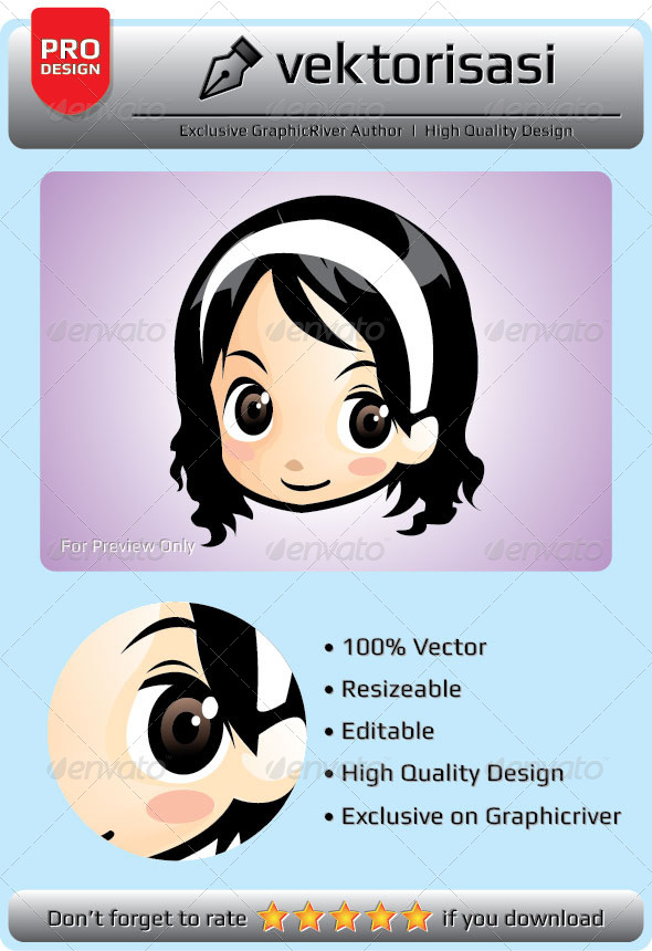 GraphicRiver Girl Vector 6648676