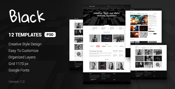 Black - Creative Clean Website Template