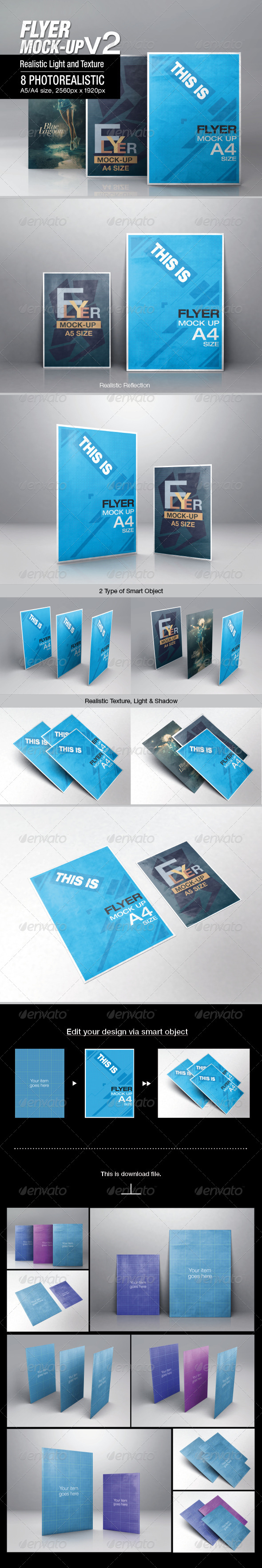 GraphicRiver Flyer Mock-up v2 6649482