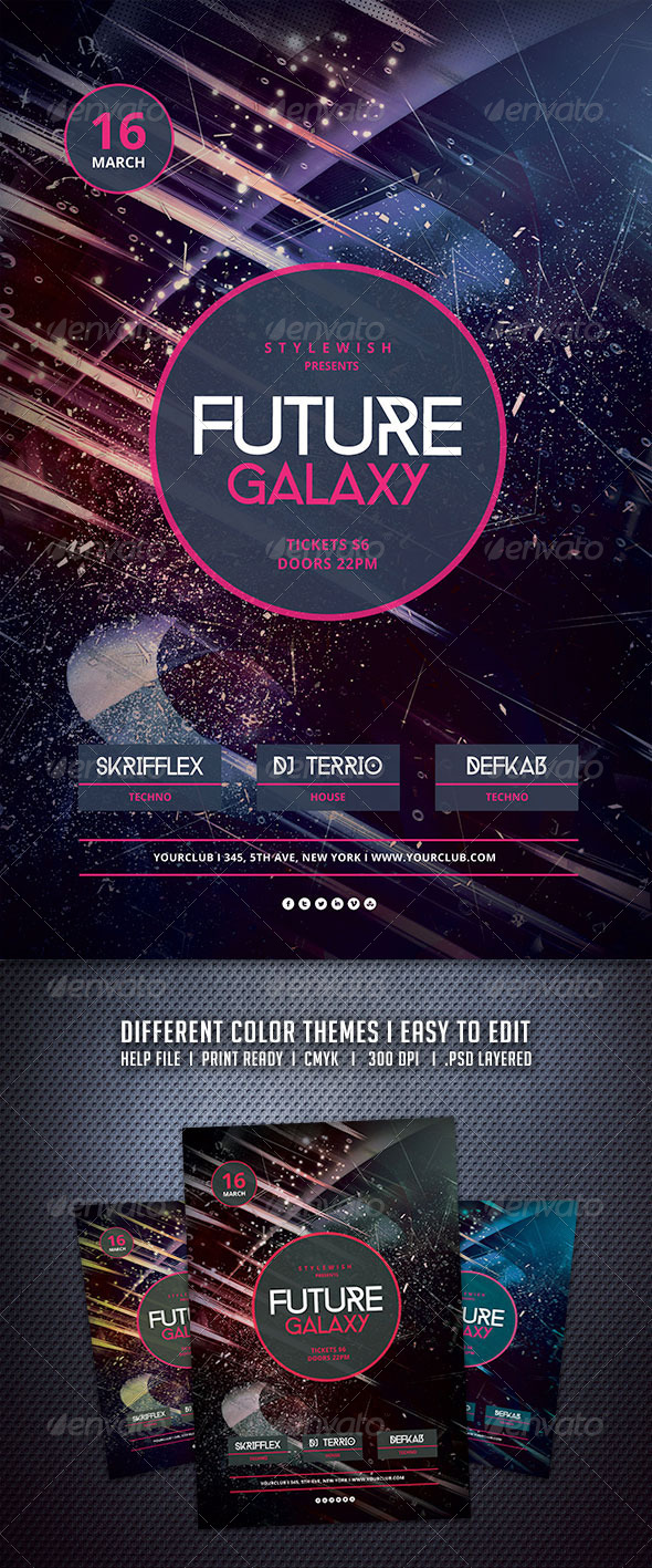 GraphicRiver Future Galaxy Flyer 6649483