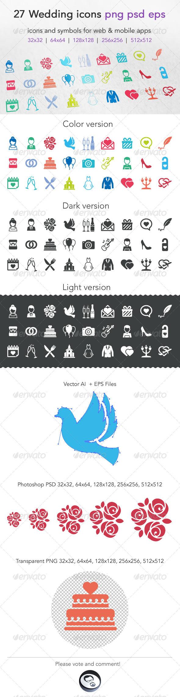 GraphicRiver Wedding Icons 6649750