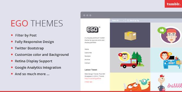 EGO - Responsive Tumblr Portfolio Theme - EGO - Premium Tumblr Theme