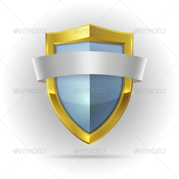 GraphicRiver Guard Shield with Blank Ribbon Emblem 6650060