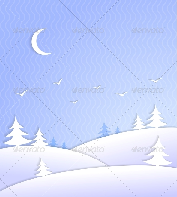 GraphicRiver Winter Background Scene Ice Cold 6650073
