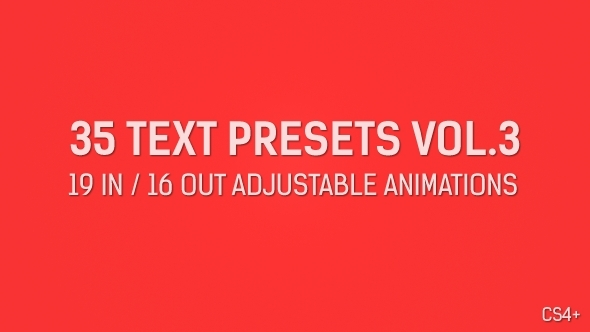 35 Text Presets Vol.3