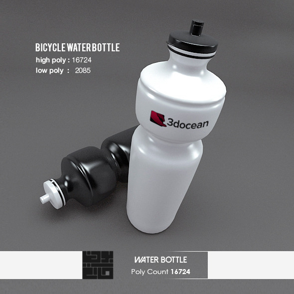 3DOcean Bicycle Water Bottle 3D Realistic Model 6650100