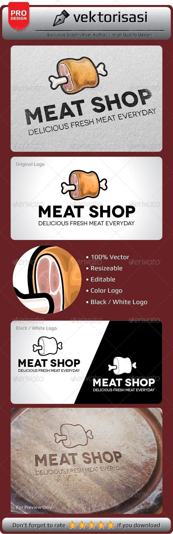 GraphicRiver Meat Shop Logo 6650153