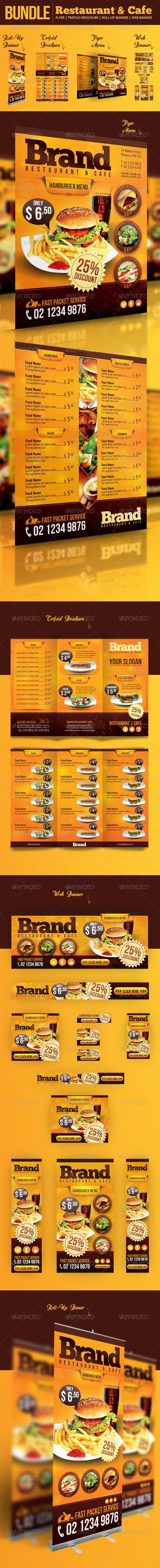 GraphicRiver Restaurant & Cafe Bundle 6650157