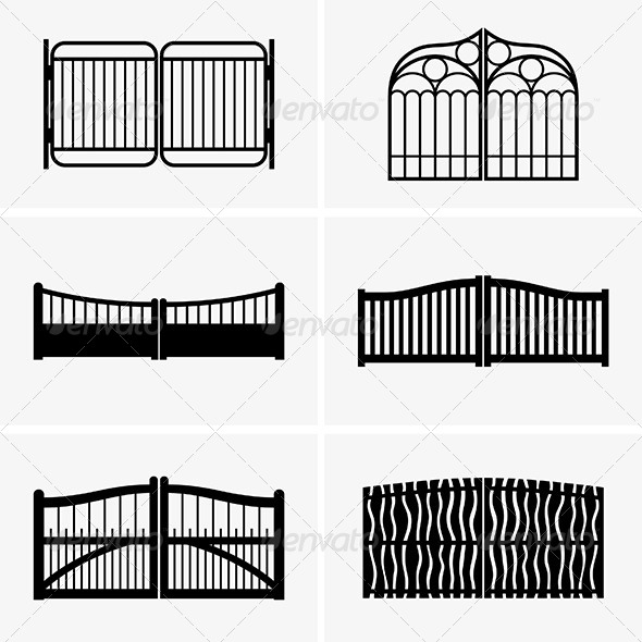 Wooden gate cartoon tinkytyler stock photos graphics