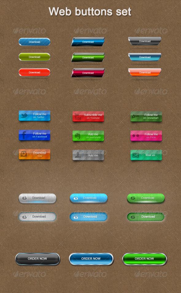 GraphicRiver Web Buttons Set 6650173