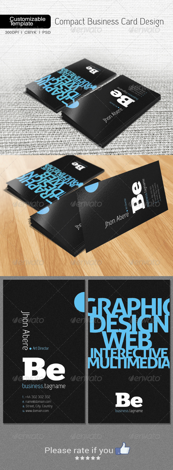 GraphicRiver Compact Business Card Design 6650183