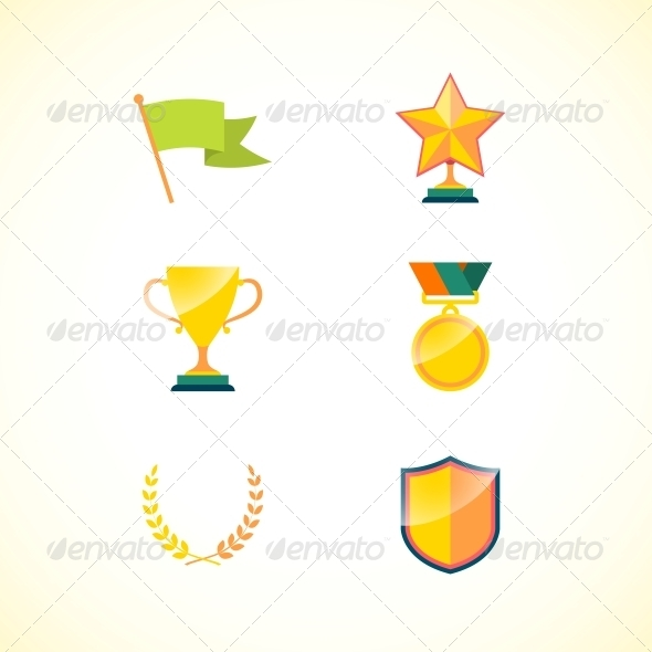 GraphicRiver Set of Achievement Badges 6650229