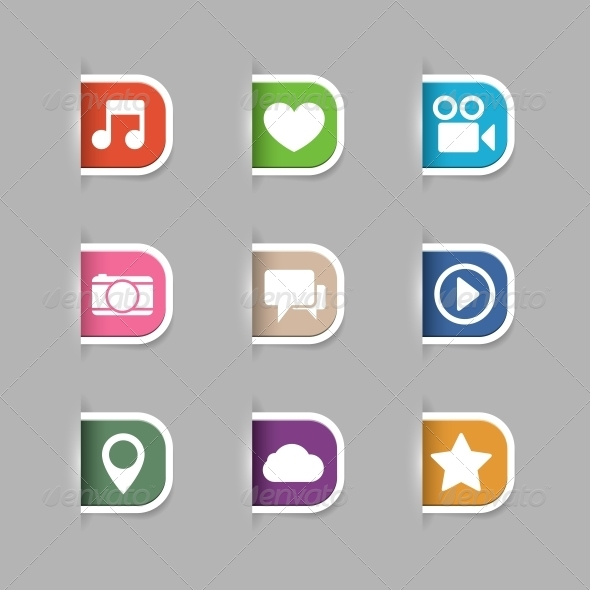 GraphicRiver Collection of Social Media Pictograms 6650232