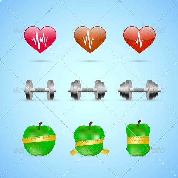 GraphicRiver Fitness Exercises Progress Icons Set 6650239