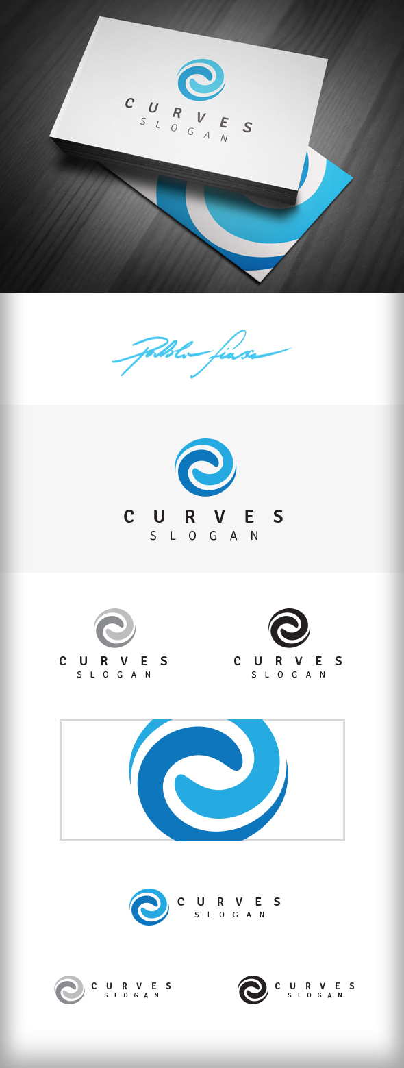 GraphicRiver Spiral Logo Swirl Logo Synergy Logo Curves 6650297