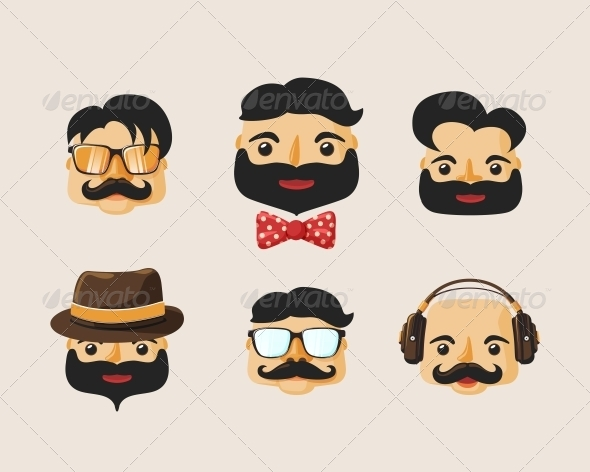 GraphicRiver Hipster Characters 6650533