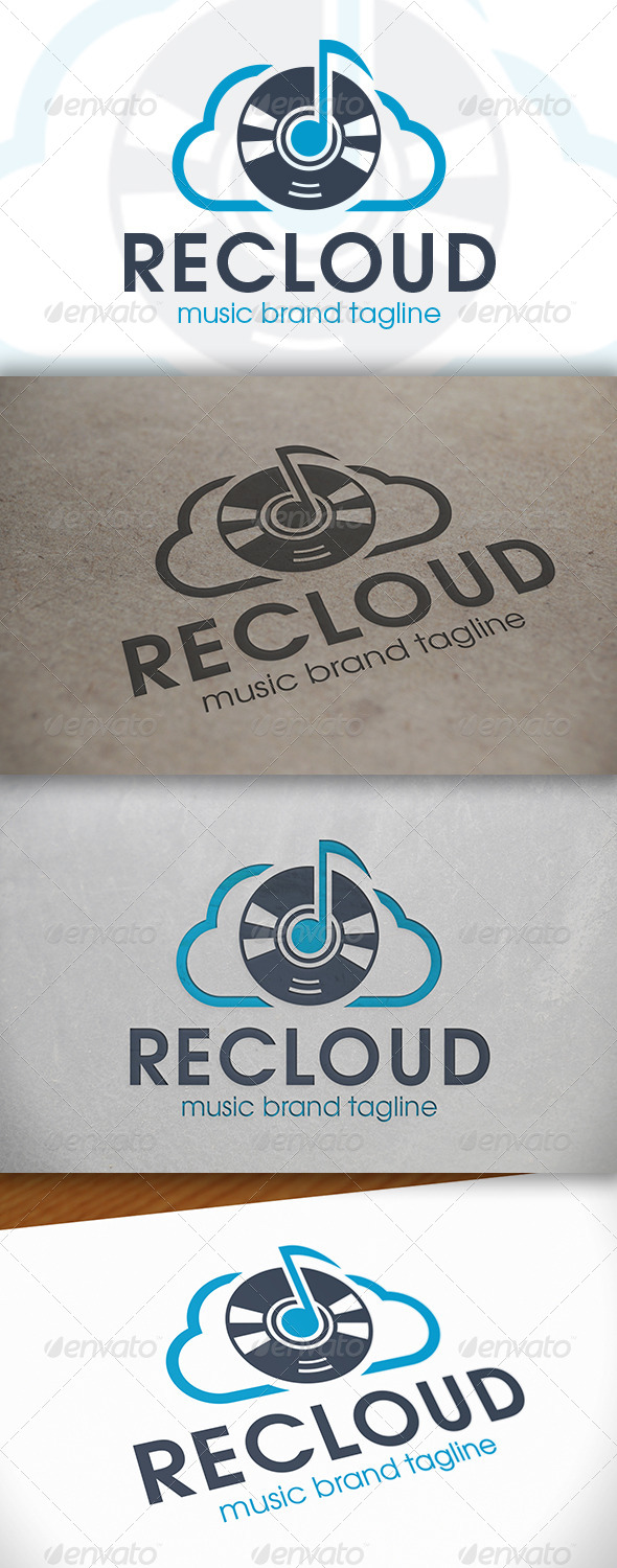GraphicRiver Music Cloud Logo 6650833