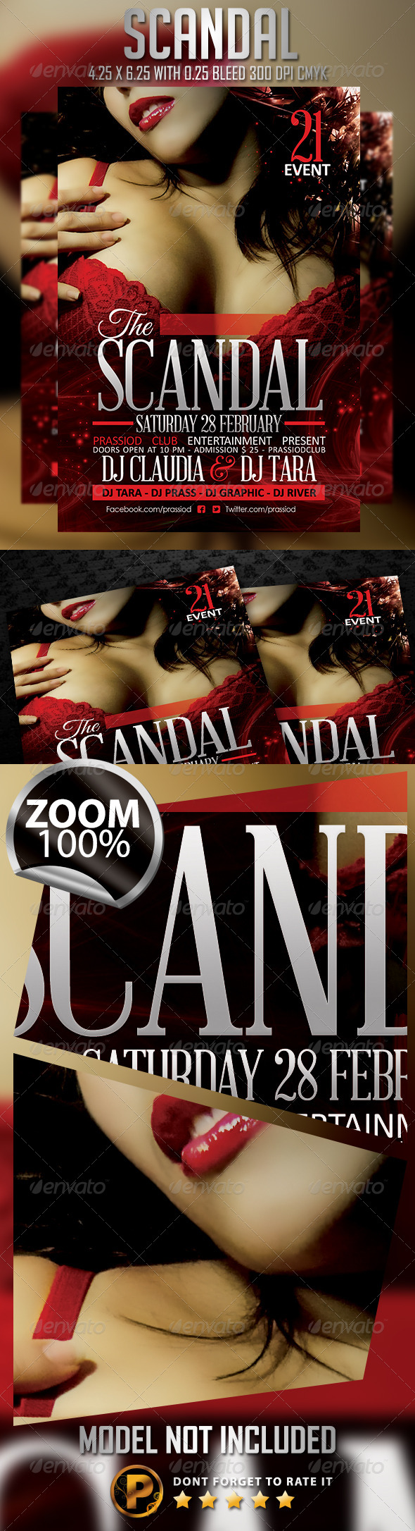 Scandal Flyer Template - Clubs & Parties Events