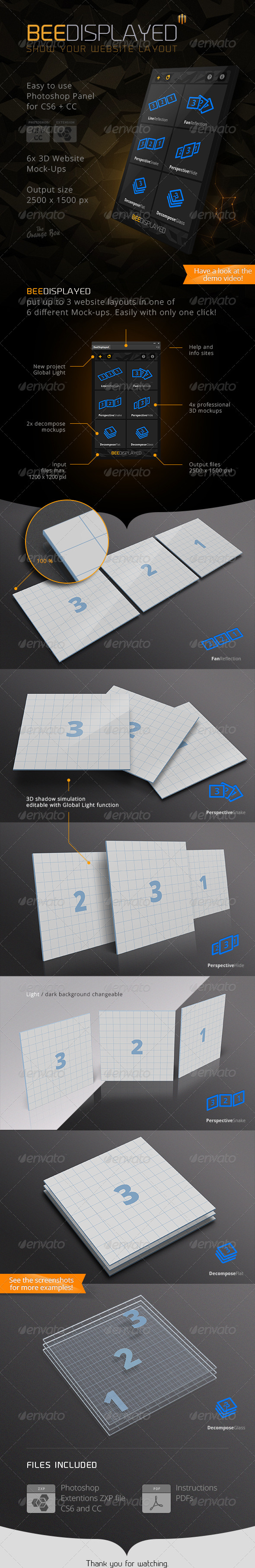 GraphicRiver BeeDisplayed Present your Website Layout Panel 6650842