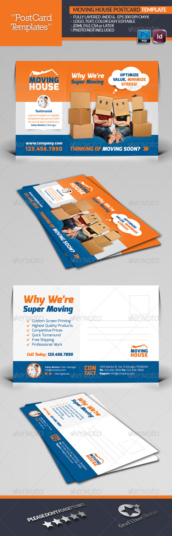 GraphicRiver Moving House Postcard Template 6650935