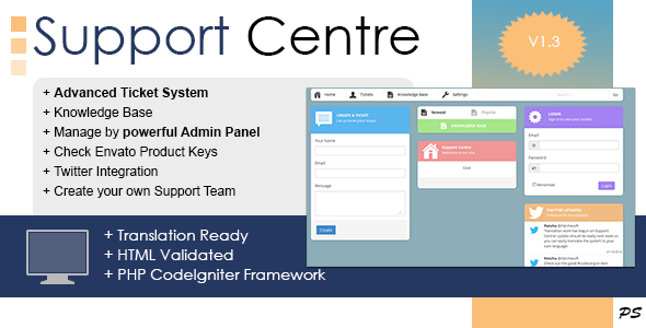 CodeCanyon Support Centre PHP Ticket System 6431145
