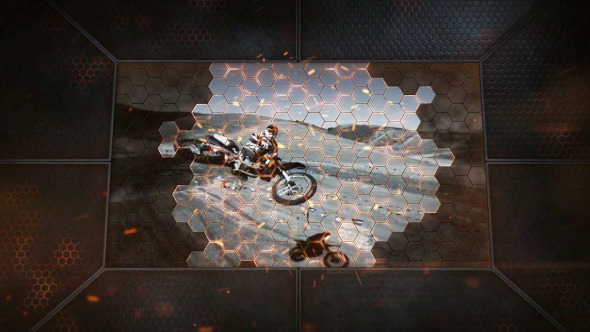AE模板:黑暗史诗 动作电影预告片头 游戏宣传介绍 三维金属质感 火花蜂窝状展示模板 免费下载