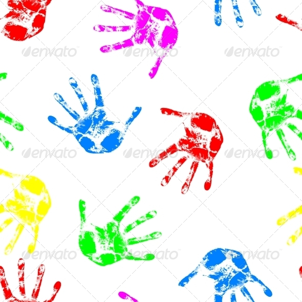 GraphicRiver Seamless Hand Print Wallpaper 6651574