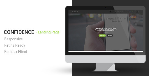 ThemeForest Confidence Responsive Parallax Landing Page 6647812