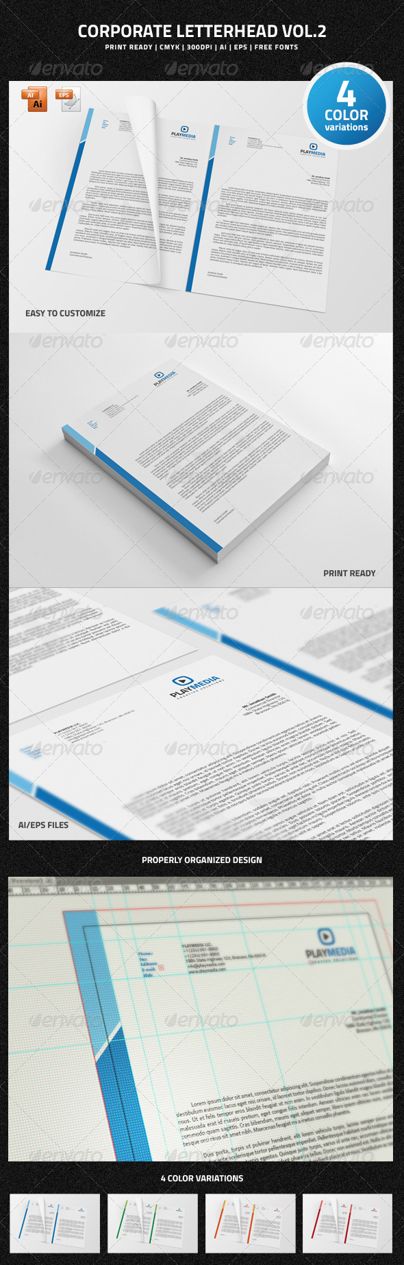 GraphicRiver Corporate Letterhead vol.2 6651984