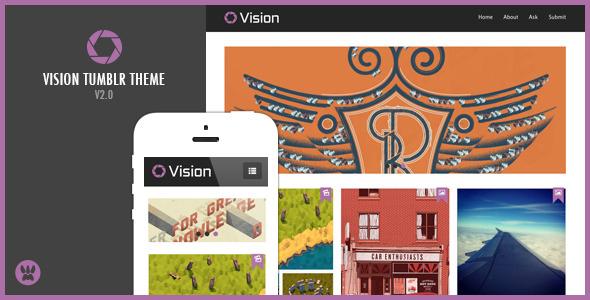 Vision - Responsive Tumblr Theme