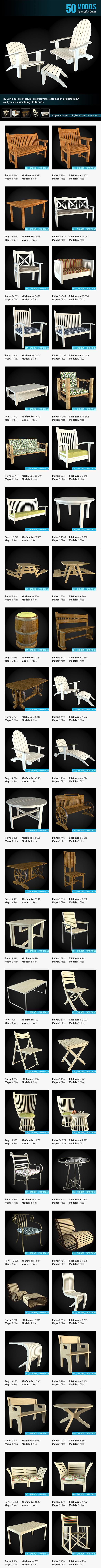 3DOcean Collection of Garden Furniture 6652267