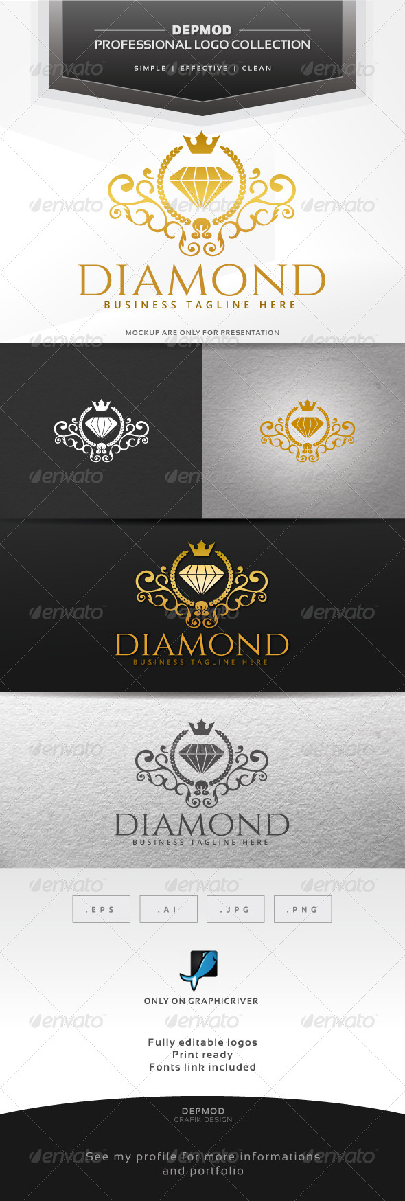 GraphicRiver Diamond Logo 6652272