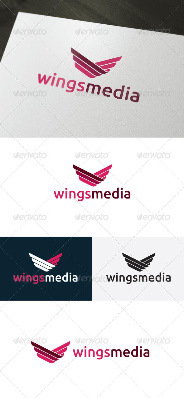 GraphicRiver Wings Media Logo 6644001