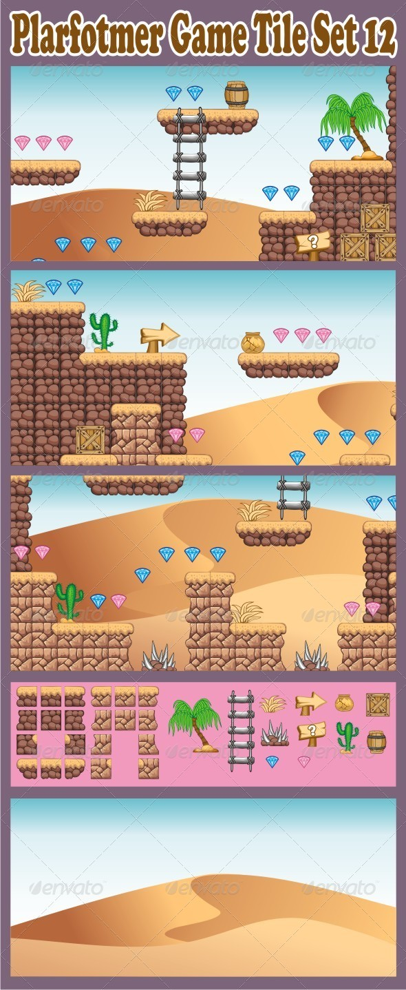 GraphicRiver Platformer Game Tile Set 12 6652517