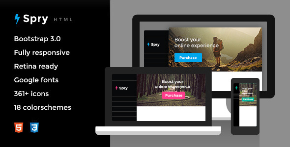 ThemeForest Spry Responsive HTML5 Template 6652611