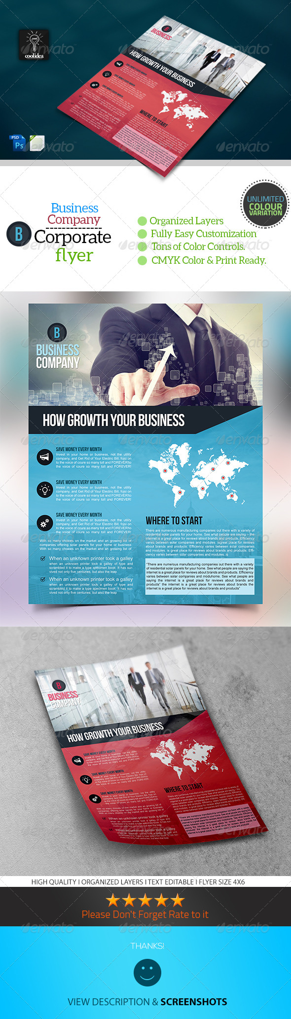 GraphicRiver A4 Corporate Flyer Template Business 6652612