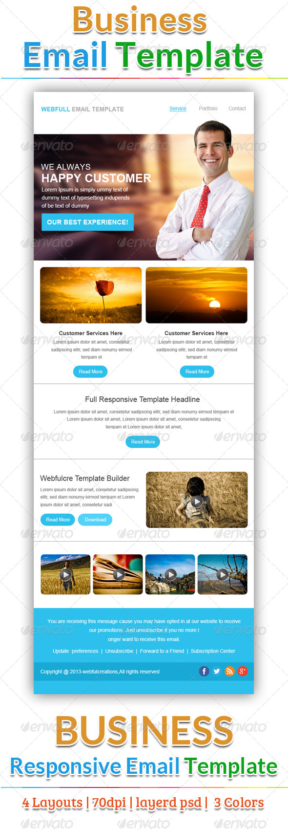 GraphicRiver Creative Email Template 6652644