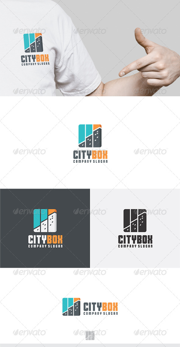 City Box Logo - Buildings Logo Templates