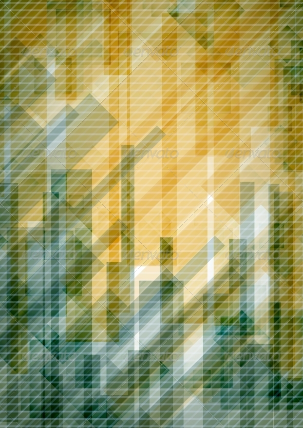 GraphicRiver Abstract Yellow Rectangle Shapes Background 6653049