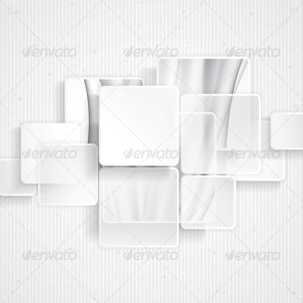 GraphicRiver White Square Element on Stripes Background 6653096