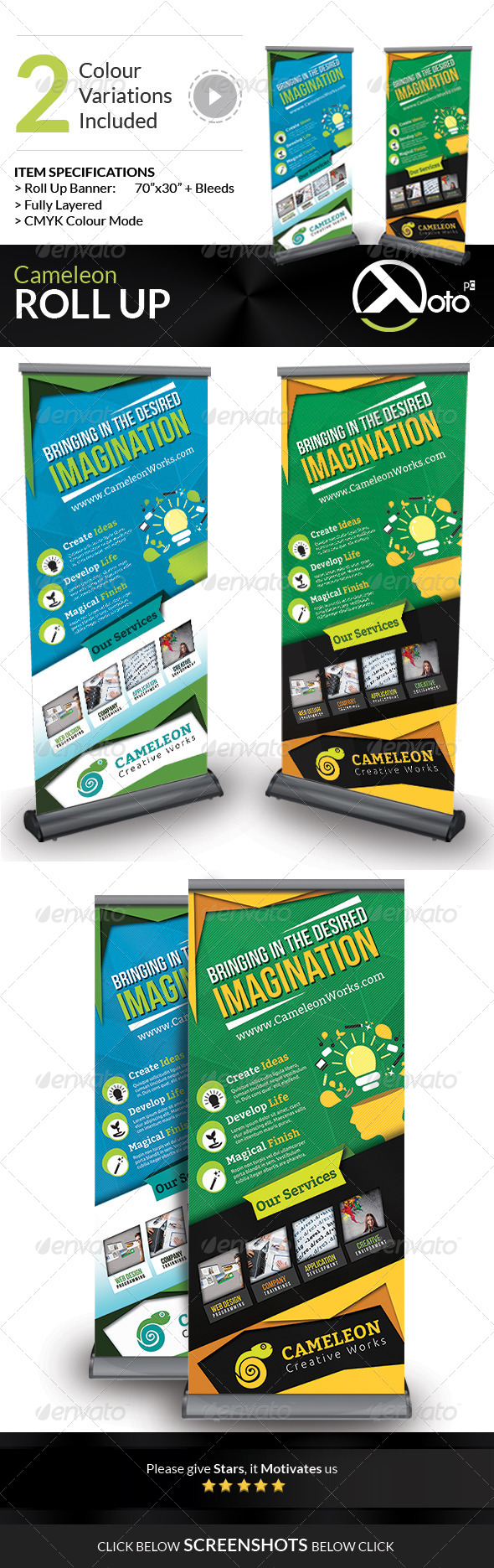 GraphicRiver Cameleon Works Roll Up Banners 6653097