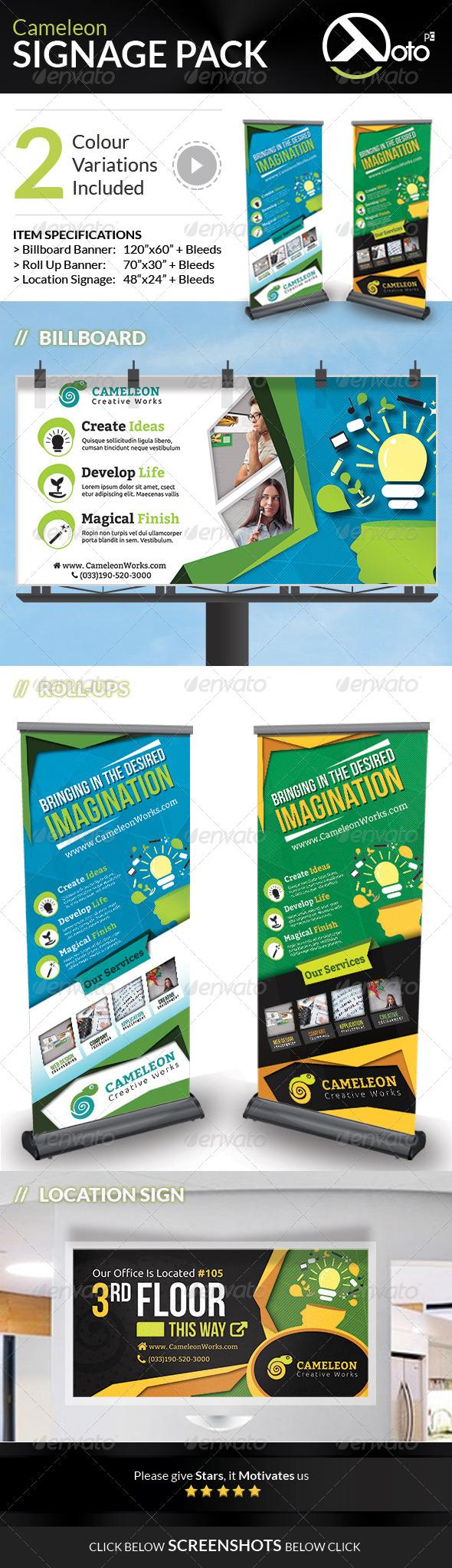 GraphicRiver Cameleon Works Signage Bundle Pack 6653154