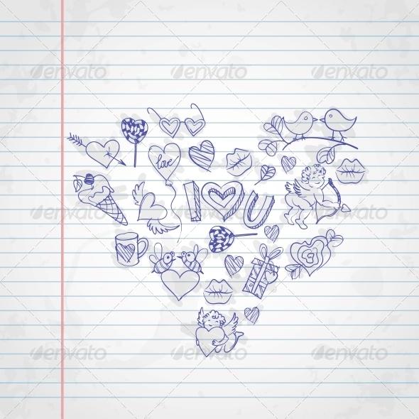 GraphicRiver Valentine s Day Symbols 6653157