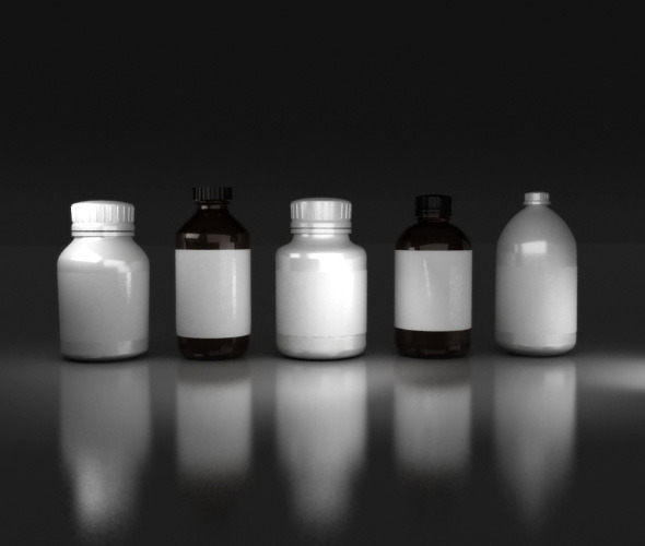 Medicine Bottles - 3DOcean Item for Sale