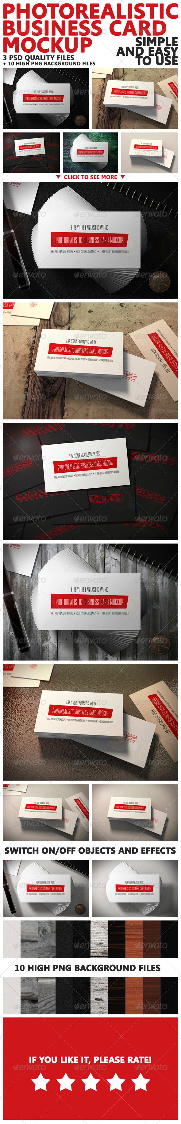 GraphicRiver Photorealistic Business Card Mockup 6653278