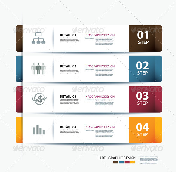 GraphicRiver Business Step Paper Data and Design Template 6653297