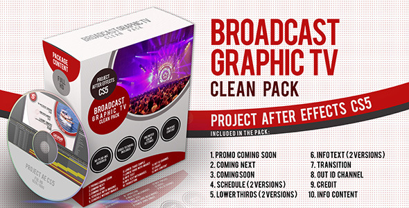 Broadcast Graphic Tv Clean Pack