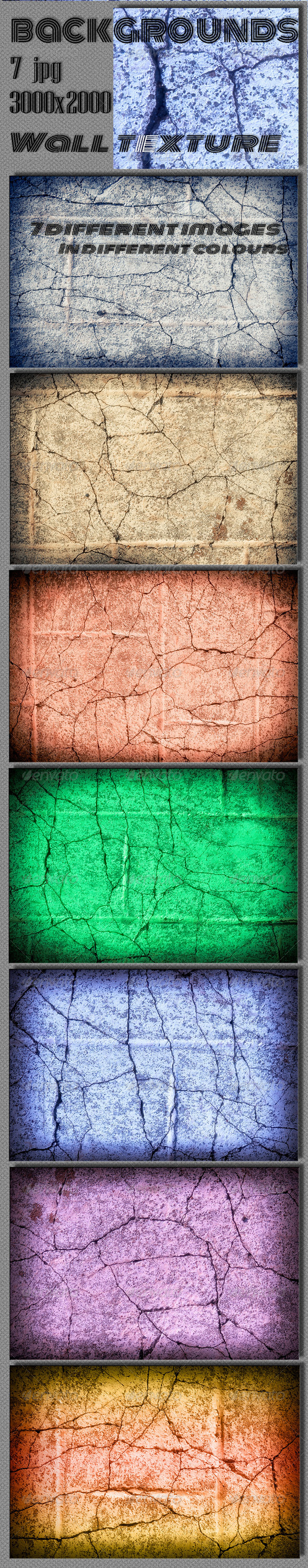 GraphicRiver Grunge Wall Backgrounds 6653368