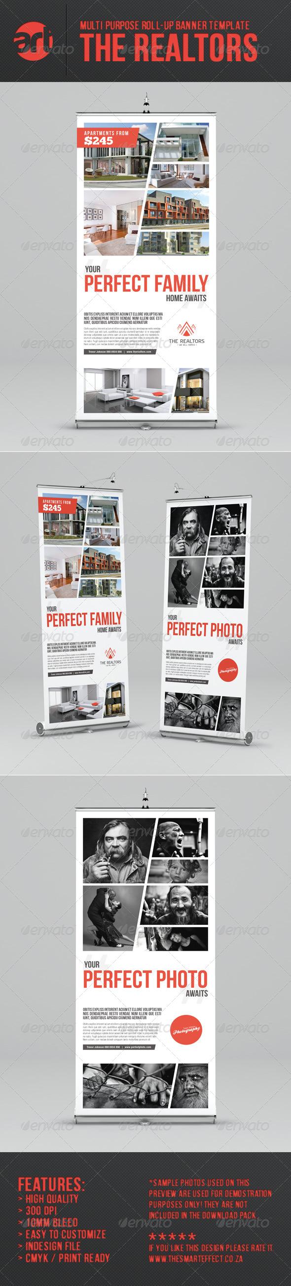 GraphicRiver The Realtors Multi-Purpose Roll-up Banner Template 6653447