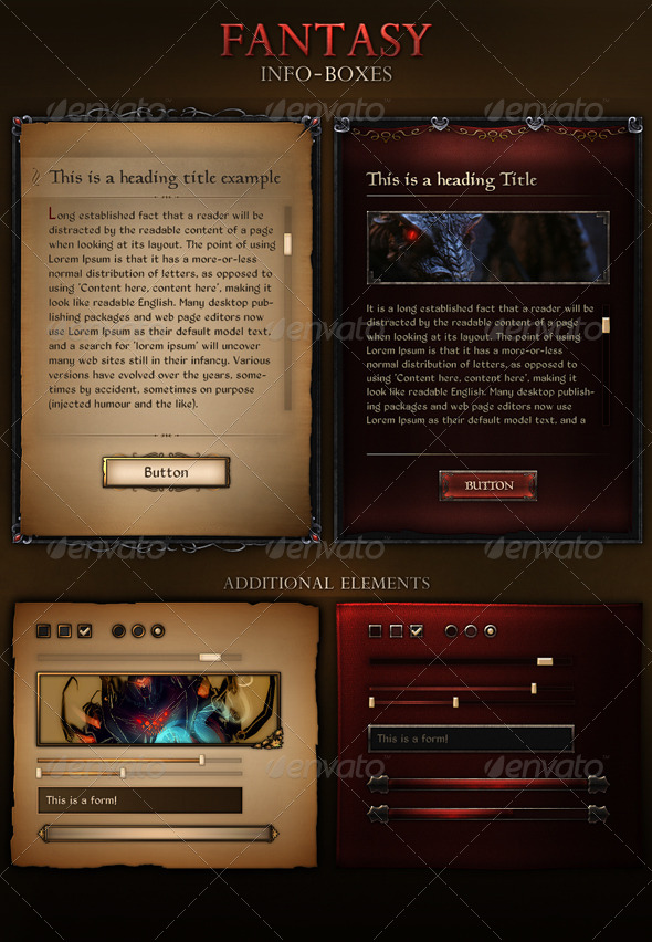 Fantasy Info Boxes